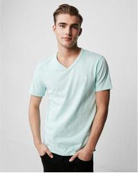 Express - Small Lion Eco-friendly Stretch V-neck Tee - Lyst