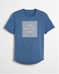 Express | Acid Wash Live And Let Love Graphic Tee | Lyst