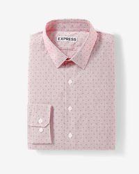 Express - Slim Fit Diamond Dress Shirt - Lyst
