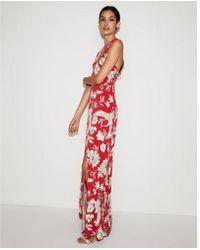 Express - Floral High Slit Maxi Dress - Lyst