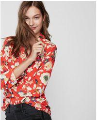 Express | Original Fit Floral Pattern Portofino Shirt | Lyst