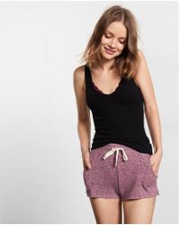 Express - One Eleven Plush Jersey Shorts - Lyst