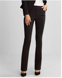 Express - Mid Rise Barely Boot Columnist Extreme Stretch Pant - Lyst