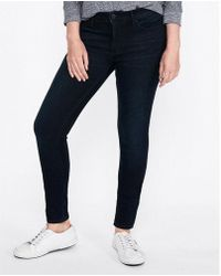 Express - Mid Rise Stretch+ Supersoft Jeggings, Women's Size:00 Short - Lyst