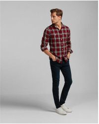 Express - Plaid Flannel Shirt - Lyst