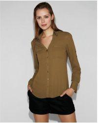 Express - Slim Fit Portofino Shirt - Lyst