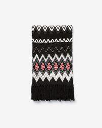 Express - Geometric Studded Knit Oblong Scarf - Lyst
