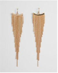 Express - Raduated Metal Fringe Earrings - Lyst