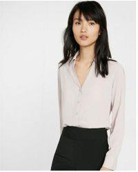 Express - Etite Slim Fit No Pocket Portofino Shirt - Lyst