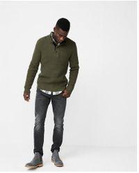 Express - Snap Mock Neck Sweater - Lyst