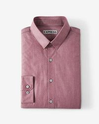 Express - Slim Fit Dot Dress Shirt - Lyst