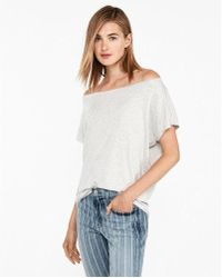 Express - One Eleven Off The Shoulder London Tee - Lyst