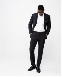 Express - Extra Slim Double Stripe Wool Blend Suit Pant - Lyst