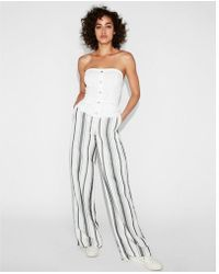 Express - Button Bodice Tube Top - Lyst