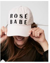 Express - Rose Babe Baseball Hat - Lyst