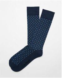 Express - Cushioned Dot Dress Socks - Lyst