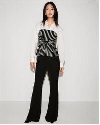 Express - Striped Tie Front Tube Top - Lyst