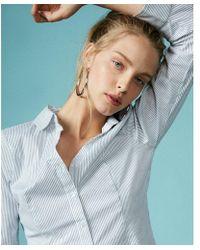Express - Y-neck Essential Shirt - Lyst