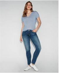Express - Low Rise Thick Stitch Stretch Jean Leggings, Women's Size:16 Short - Lyst