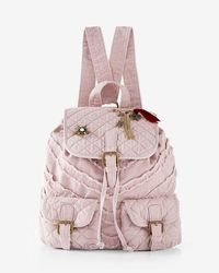 Express - Quilted Embellished Drawstring Backpack - Lyst
