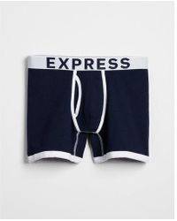 Express - Contrast Trim Solid Boxer Briefs - Lyst