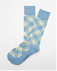 Express - Plaid Dress Socks - Lyst