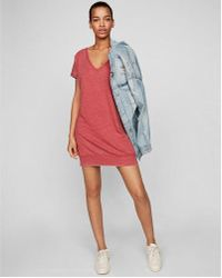 Express - Strappy Back London Shirt Dress - Lyst