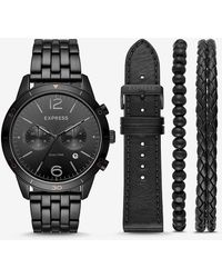 Express Whittier Multi-function Watch Gift Set - Black