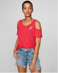 Express - One Eleven Spliced Colder Shoulder Tee - Lyst