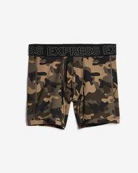 Express - Camo Print Performance Boxer Briefs - Lyst