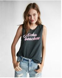 Express - One Eleven Aloha Beaches Graphic Tank - Lyst