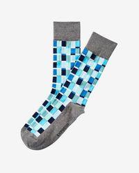 Express - Right Check Print Dress Socks - Lyst
