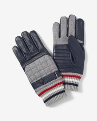 Express - Quilted Stripe Cuff Touchscreen Gloves - Lyst