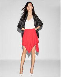 Express - Mid Rise Asymmetrical Ruffle Skirt - Lyst