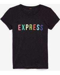 Express - Love Unites Pride Rainbow Graphic Slim Tee Black Unisex Xs - Lyst