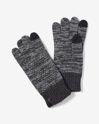 Express - Cable Knit Marled Gloves - Lyst
