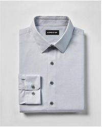 Express - Extra Slim Fit Twill 1mx Shirt - Lyst