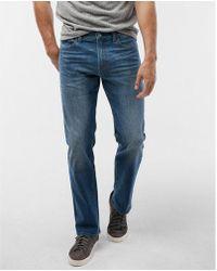 Express - Slim Straight Medium Wash Tough Stretch+ Jeans, Men's Size:w28 L28 - Lyst
