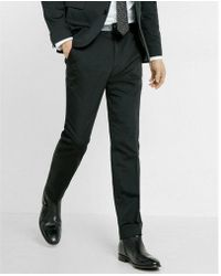 Express - Skinny Innovator Black Cotton Sateen Suit Pant - Lyst