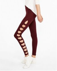 a0fb58ef34971f Express - One Eleven High Waist Supersoft Cut-out Side Leggings - Lyst