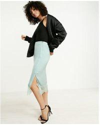 Express - Lace Hem Slip Skirt - Lyst