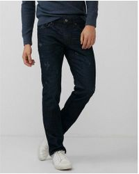 82cb93f69a66c Express Ig   Tall Slim Straight Medium Wash Raw Cut Hem 100% Cotton ...
