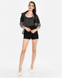 Express - Super High Waisted Satin Stretch Shortie - Lyst