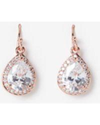 Express - Cubic Zirconia Halo Teardrop Earrings - Lyst