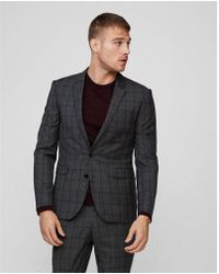 Express - Extra Slim Fit Plaid Wool Suit Jacket - Lyst