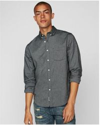 Express - Classic Soft Wash Oxford Shirt - Lyst