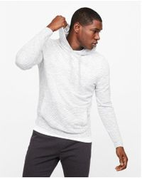 Express - Feeder Striped Hooded Sweater - Lyst