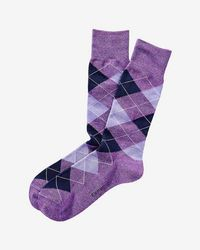 Express - Heathered Argyle Dress Socks - Lyst