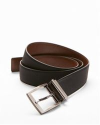 Express - Reversible Matte Strap Prong Buckle Belt - Lyst