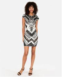 Express - Petite Short Sleeve Sequin Dress - Lyst